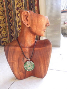 Elite Brown Abstract Necklace & Earring display