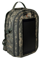 The Bugout Solar Backpack, digital ACU camo