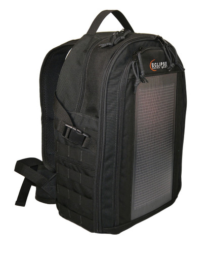 The Bugout Solar Backpack, MOLLE, Black