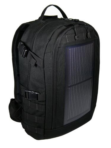 The Trekker Solar Backpack, MOLLE, Black