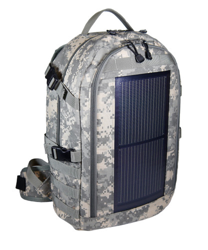The Trekker Solar Backpack, MOLLE, Camo