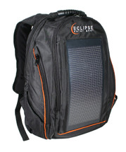 The Eclipse Solar Backpack, Black/Orange