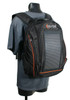 The Eclipse Solar Backpack, Black/Orange, stand