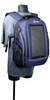 The Eclipse Solar Backpack, Blue/Gray, stand