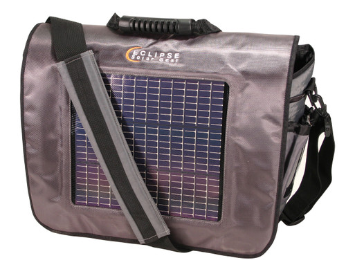 The Fusion Solar Messenger Bag, Gray/Black