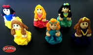 Blackwood Lane - 3d Princesses Cake Toppers (6pcs)
