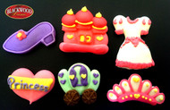 Blackwood Lane - Princess Accessories Cake Toppers (6pcs)