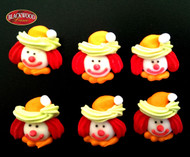 Blackwood Lane - Assorted Clown Cake Toppers (6pcs)