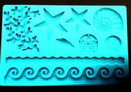 Sea Patterns Silicone Impression Mat