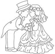 Patchwork Cutters - Bride and Groom Cutters