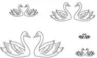 Patchwork Cutters - Swan Set (8 Pcs.)