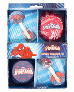 Marvel's Ultimate Spiderman Cupcake Decorating Kit (24 Cups + 24 Picks)