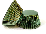 Green Foil Patty Pans  (Size #550 - 30)