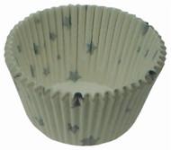 Fox Run - Silver Star Design Cup Cake Baking Paper (48 Pcs.)