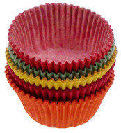 Fox Run - Assorted Colors Mini Muffin Cups  (100 Pcs.)