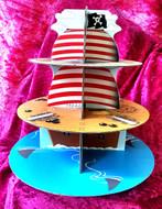 Blackwood Lane - Pirate Inspired 3-Tier Cupcake / Cake Stand