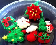 Assorted Christmas Cupcake Toppers (7 Pcs)