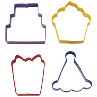 Wilton - Party Cookie Cutter Set (4 Cutters)