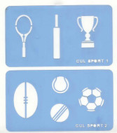 Culpitt - Sports Stencil Set of 2