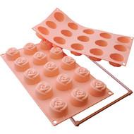Siliko Mart - Small Rose Silicone Mould (15 Cavity)