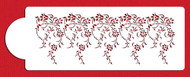 Designer Stencils - Large Vintage Lace Cake Stencil Side (12 cm x 33 cm)