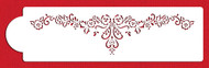 Designer Stencils - Alencon Floral Lace Swag Cake Stencil (8.90 cm x 37 cm)