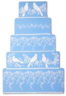 Designer Stencils - Love Birds Cake Stencil Side (8.90 cm x 31 cm)