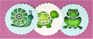 Designer Stencils - Pond Critters Cookie Set (7.62 cm)