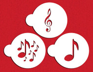 Designer Stencils - Musical Cookie Stencil (7.62 cm)