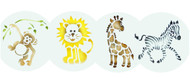 Designer Stencils -  Jungle Animals Cookie Set (7.62 cm)
