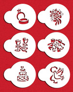 Designer Stencils -  Wedding Candy/Cookie Tops (5 cm)