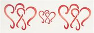 Designer Stencils -  Dancing Hearts Cake Stencil (5.08 cm x 16.51 cm)