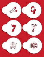 Designer Stencils -  Small Baby Candy/Cookie Set  (5.08 cm)
