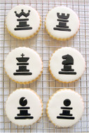 Designer Stencils - Chess Cookie Stencil Set (6.35 cm)