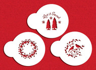 Designer Stencils - Mini Let it Snow Cupcake Stencil (5 cm)
