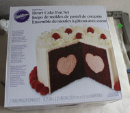 WILTON HEART CAKE PAN SET