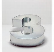 LARGE NUMBER 3 CAKE TIN (HIRE ONLY)
