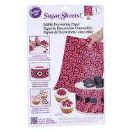 Wilton - Scrolls Sugar Sheets Edible Decorating Paper