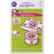 EDIBLE IMAGES - PEEL AND PLACE SUGAR SHEETS MINNIE MOUSE