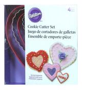 Wilton - 4 Piece Heart Shaped Cookie Cutter