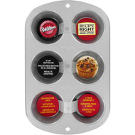 Wilton - 6 Cup Recipe Right Muffin Pan