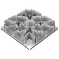 Silverwood - Mini Heart Cake Pan Set 16pcs. (6.5cm)