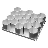 Silverwood - Mini Hexagon Cake Pan Set 18Pcs. (5.08cm)