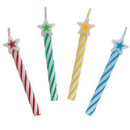 Art Wrap - Multicolored Star and Spiral Party Candle
