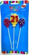 Art Wrap - 21st Party Candle (3pcs)