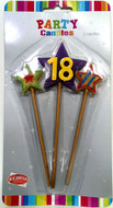 Art Wrap - 18th Party Candle (3pcs)
