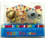 Art Wrap - Zoo Friends Party Candle