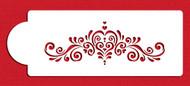Designer Stencils - Amore Cake Side Stencil