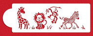 Designer Stencils - Jungle Animals Cake Side Stencil