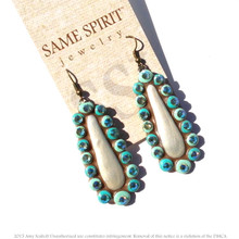 EARRINGS - LITTLE EDIE cream / turquoise